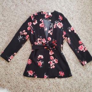H&M floral Kimono Blazer